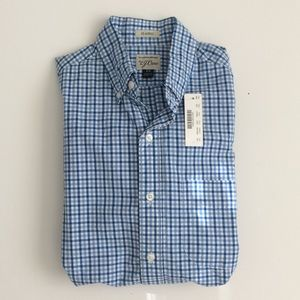 J Crew NWT Blue gingham Shirt